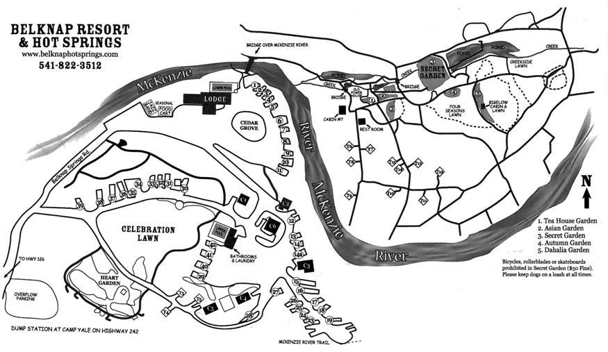 Belnap Hot Springs Lodge Gardens